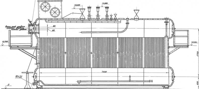 Котлы водогрейные серии ДЕВ (газ-мазут)
