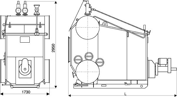 Котёл водогрейный КВЕ-0,7-115Гн (КВ-0,7Гн)