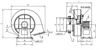 Вентиляторы дутьевые центробежные ВД и ВДН